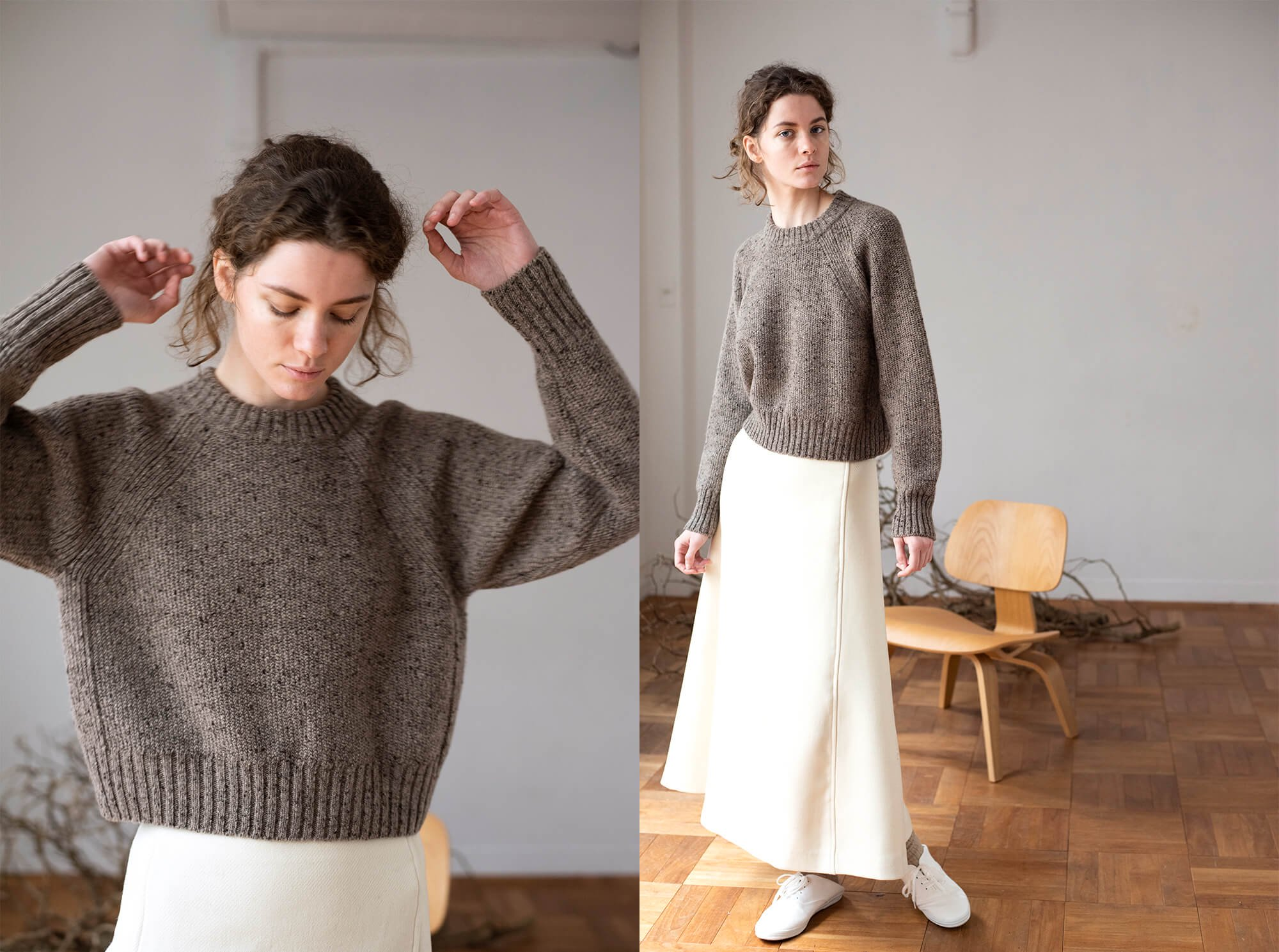 cashmere nep cropped sweater
