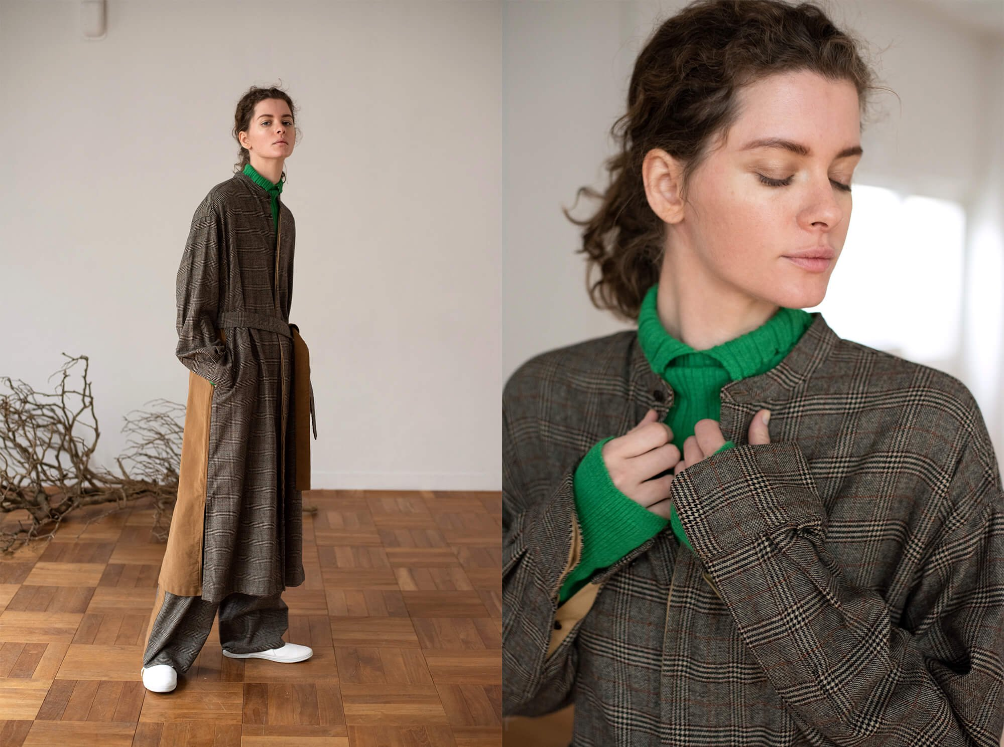 geelong lambs-flannel band collar dress