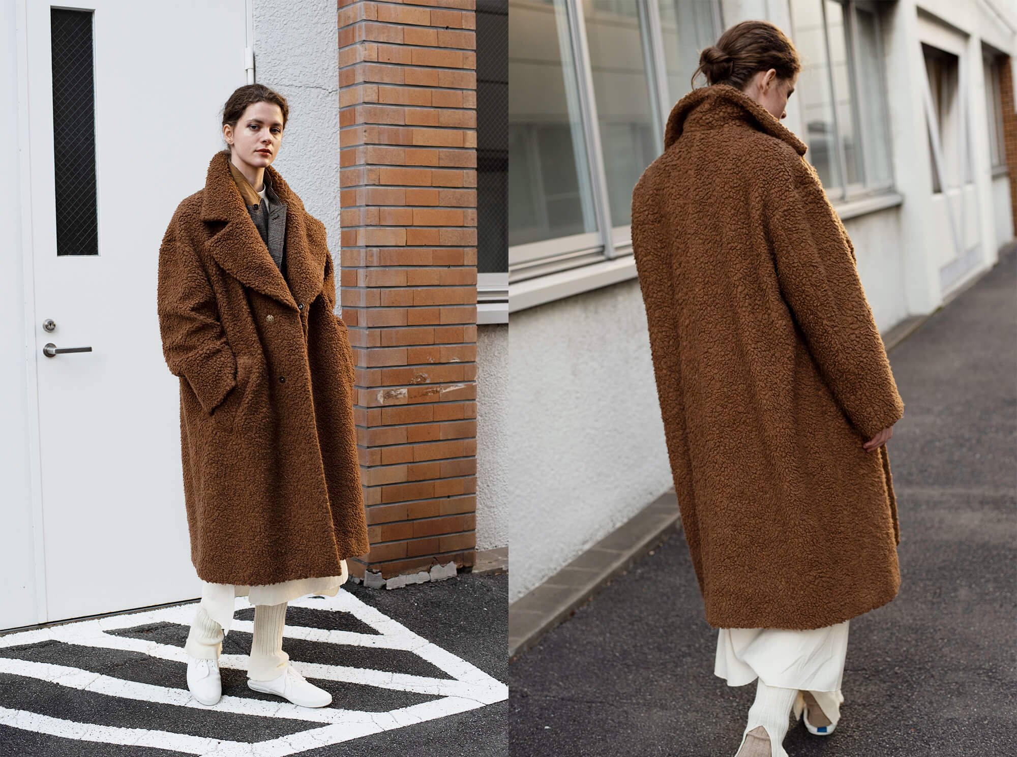 wool-pile teddy coat
