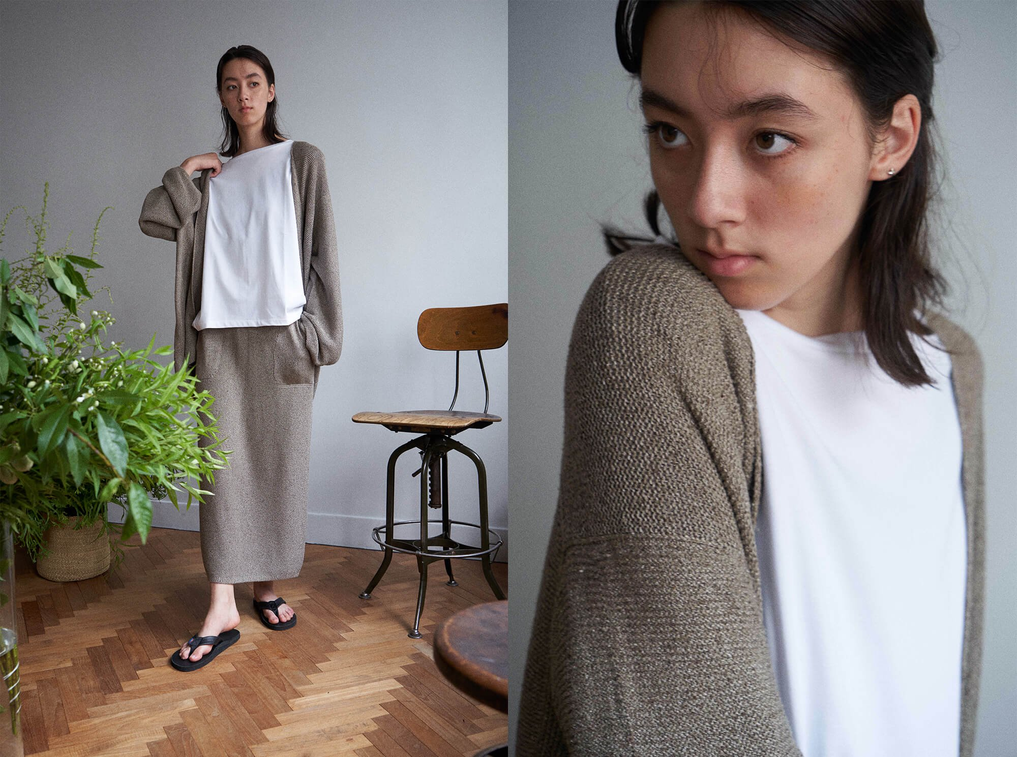 <img class='new_mark_img1' src='https://img.shop-pro.jp/img/new/icons14.gif' style='border:none;display:inline;margin:0px;padding:0px;width:auto;' />mulberry & raw silk knit cardigan