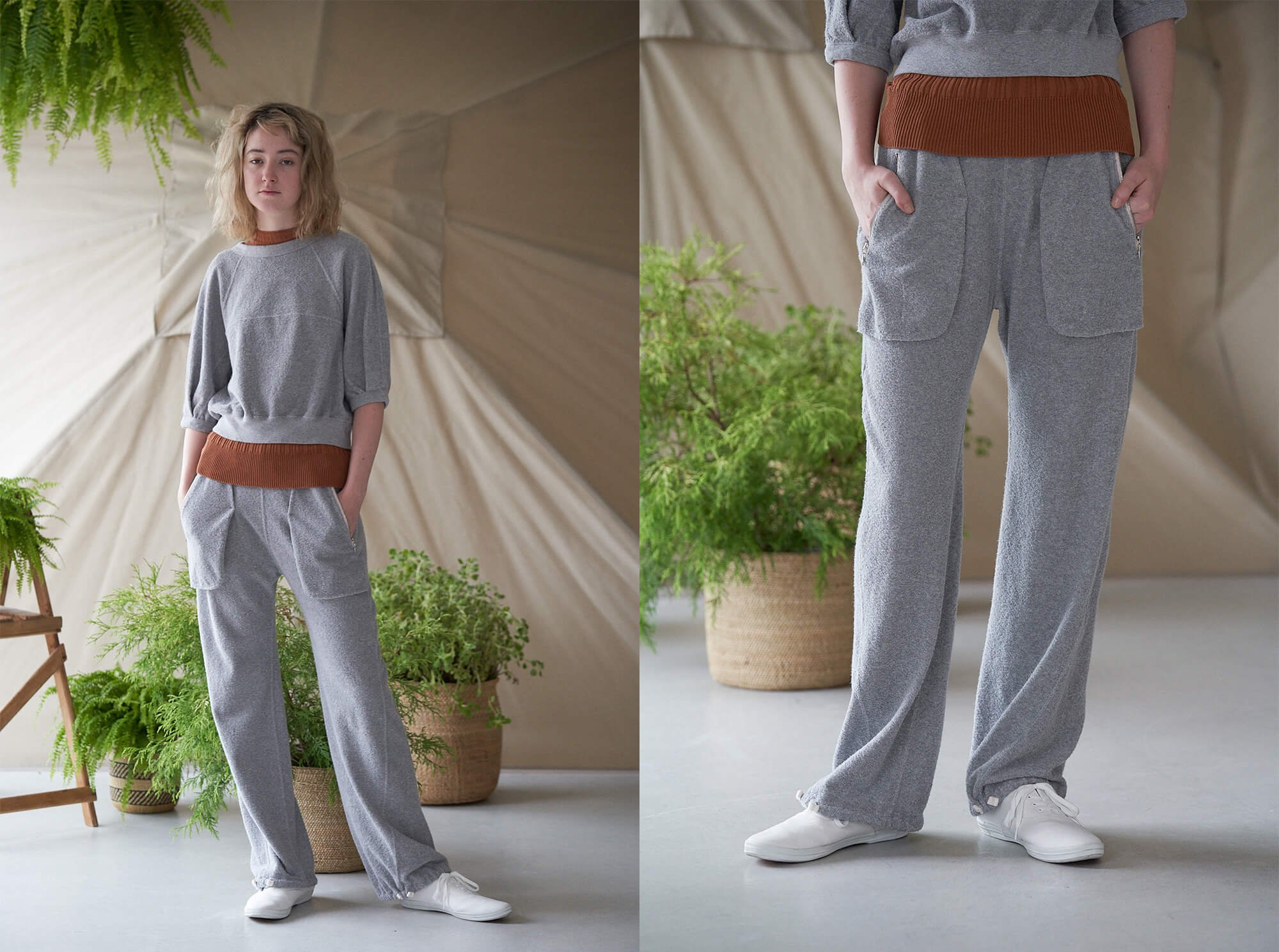<img class='new_mark_img1' src='https://img.shop-pro.jp/img/new/icons14.gif' style='border:none;display:inline;margin:0px;padding:0px;width:auto;' />vintage cotton-pile wide leg pants