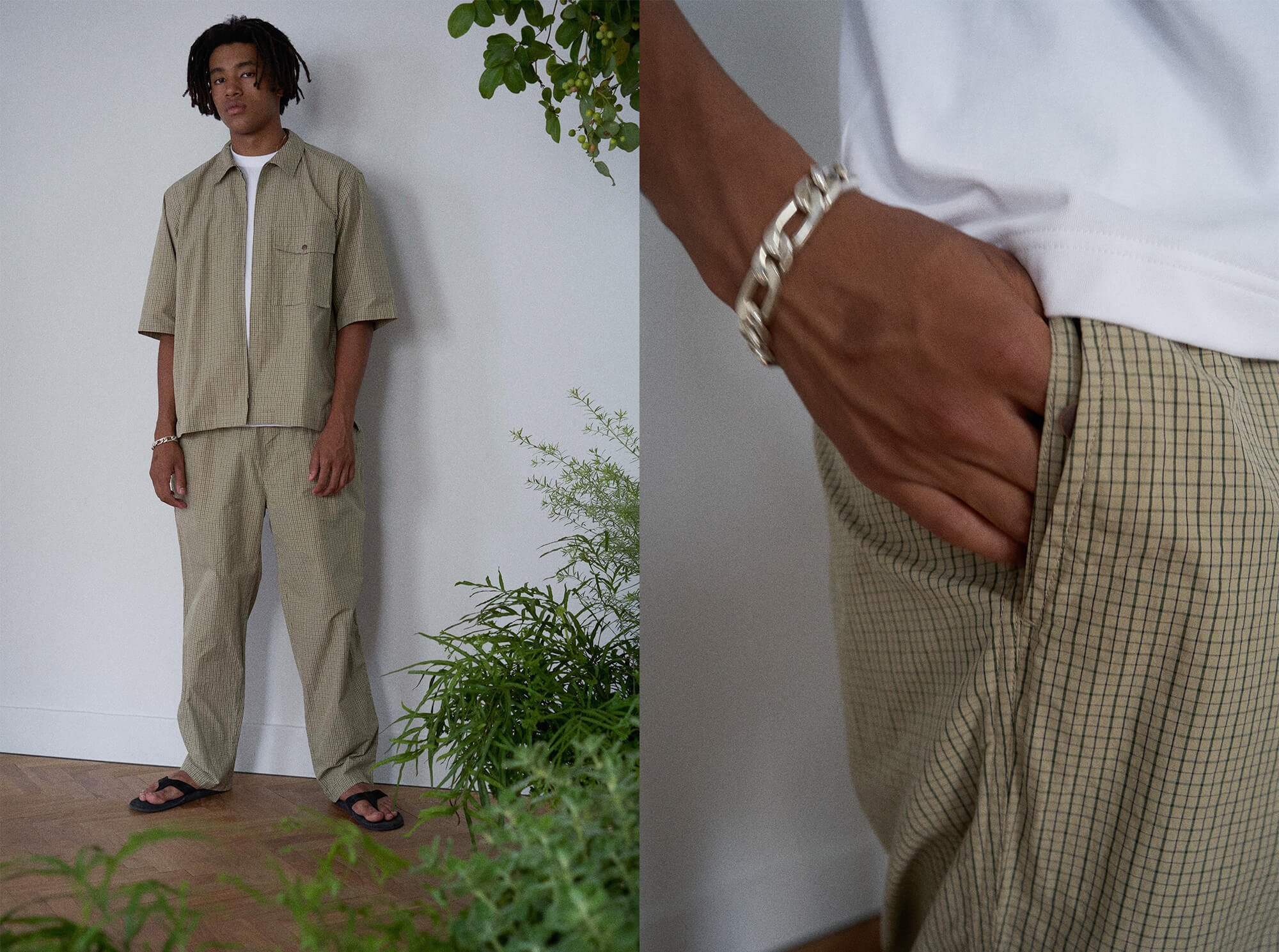 <img class='new_mark_img1' src='https://img.shop-pro.jp/img/new/icons14.gif' style='border:none;display:inline;margin:0px;padding:0px;width:auto;' />cotton-weather wide tapered easy trousers