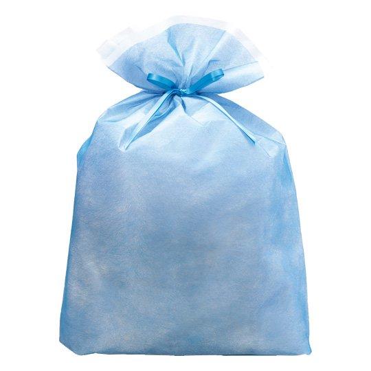 ギフトバッグ ブルー シンテックス LLサイズ