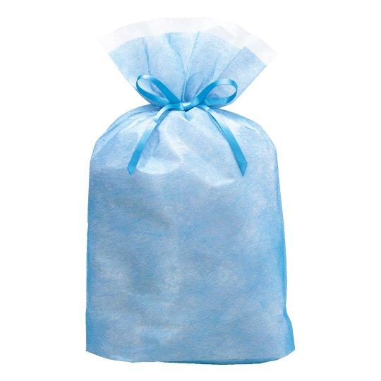 ギフトバッグ ブルー シンテックス Lサイズ