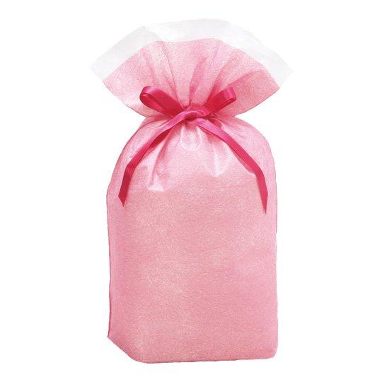 ギフトバッグ ピンク シンテックス Mサイズ