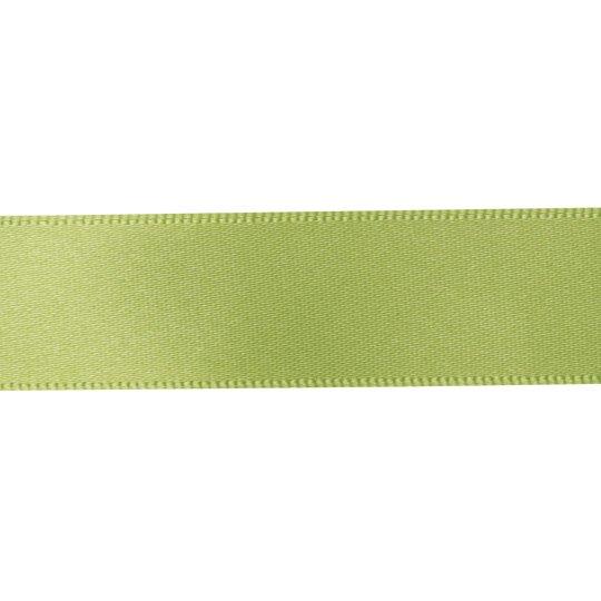 リボン ソフトグリーン カットサテン