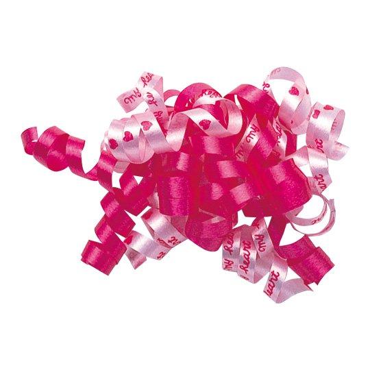 リボンシール ピンク カーリングリボン