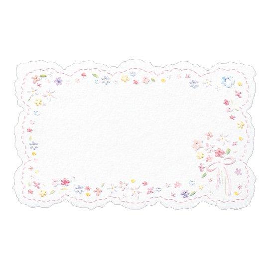 メッセージカード 花 ピンク プチフルール