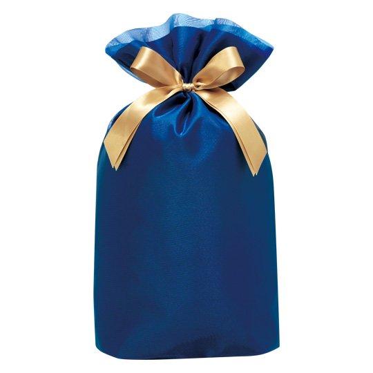 ギフトバッグ ブルー オーガンジー Lサイズ