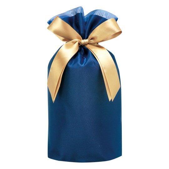 ギフトバッグ ブルー オーガンジー Mサイズ