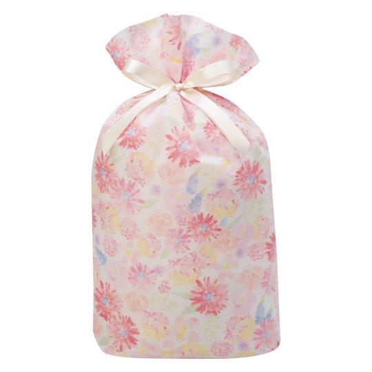 ギフトバッグ 花 ピンク グリタリングフラワー Lサイズ