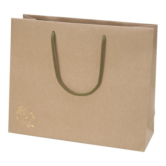 紙袋 植物 クラフト グリタリンググリーン Lサイズ