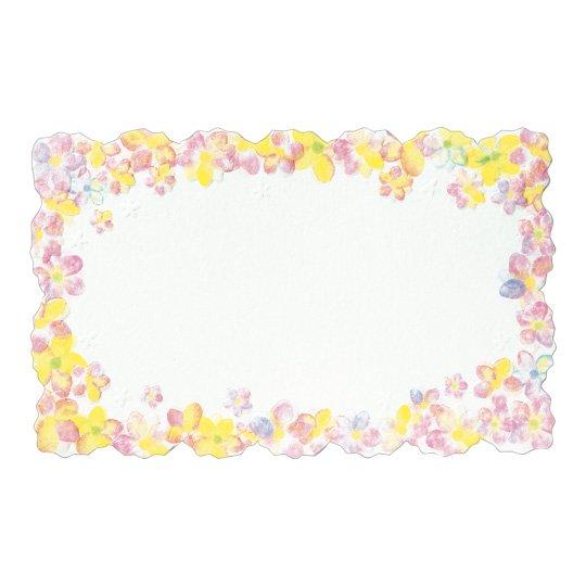 メッセージカード 花 ピンク パステルフラワー