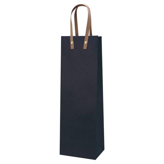 紙袋 ネイビー ワインハ−ディバッグ