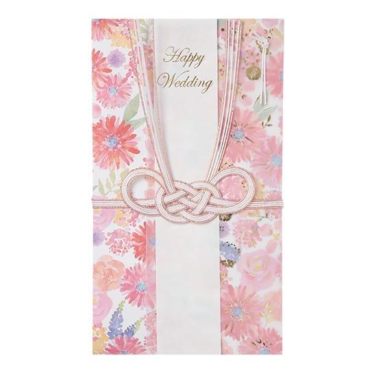 祝儀袋 ピンク 花 グリタリングフラワー