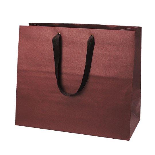 紙袋 レッド マットクラフトバッグ マチ広 Lサイズ