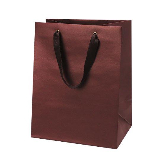 紙袋 レッド マットクラフトバッグ マチ広 Mサイズ
