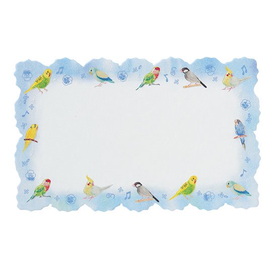 メッセージカード 鳥 ブルー ピュアバード