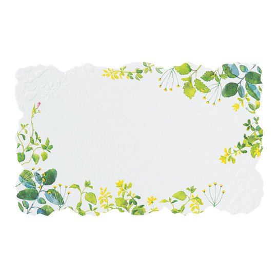 メッセージカード 植物 グリーンガーデン