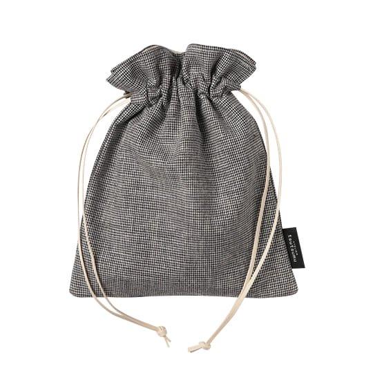 巾着バッグ ピンチェック Sサイズ