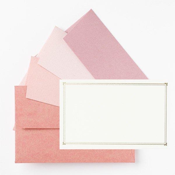 メッセージカード 封筒付き ピンク ノスタルジックカラー