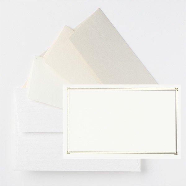 メッセージカード 封筒付き ホワイト ノスタルジックカラー