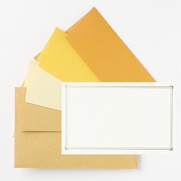 メッセージカード 封筒付き イエロー ノスタルジックカラー
