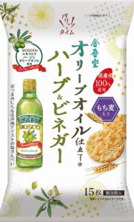 金吾堂製菓 <br>オリーブオイル仕立てのハーブ&ビネガー<br>もち麦入り