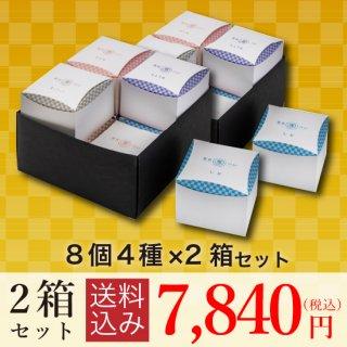【送料込み】<br>東京専べいニジュウマル8個(4種)×2箱セット