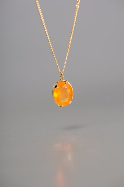 NR9 / Mexican Fire Opal Necklace
