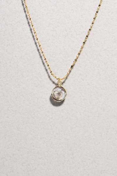 NR62 / Slice Diamond Necklace(round)