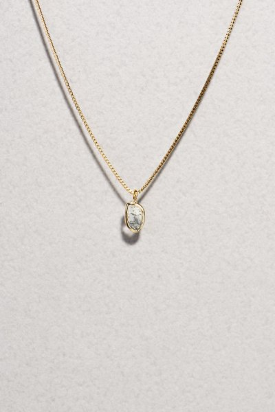 NR65 / Slice Diamond Necklace(oval)