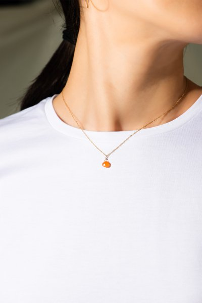 <img class='new_mark_img1' src='https://img.shop-pro.jp/img/new/icons2.gif' style='border:none;display:inline;margin:0px;padding:0px;width:auto;' />NR74 / Carnelian Necklace