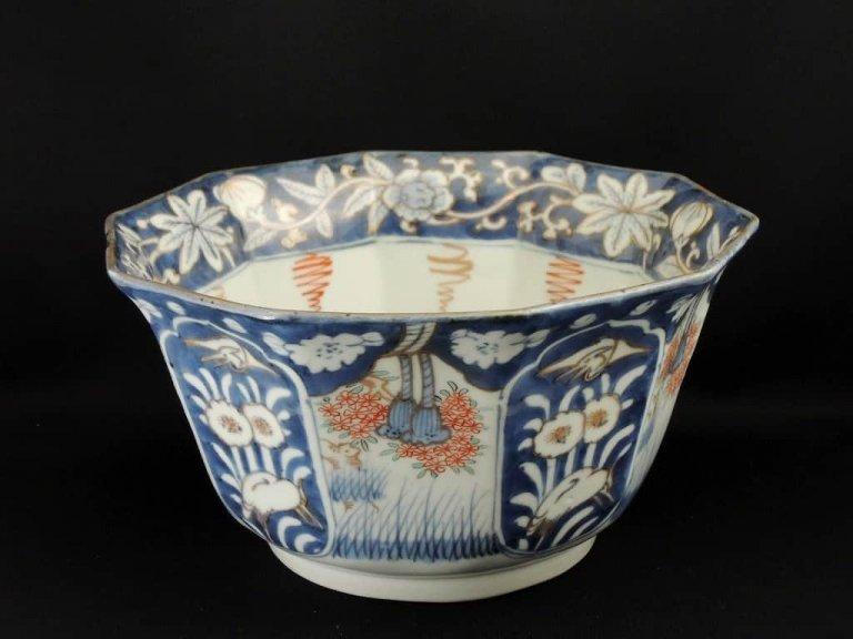 伊万里色絵十角鉢 / Imari Polychrome Octagonal Large Bowl