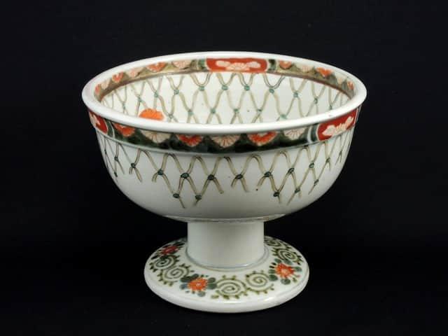 伊万里色絵網手文盃洗 / Imari Polychrome 'Haisen' Sake Cup Washing Bowl