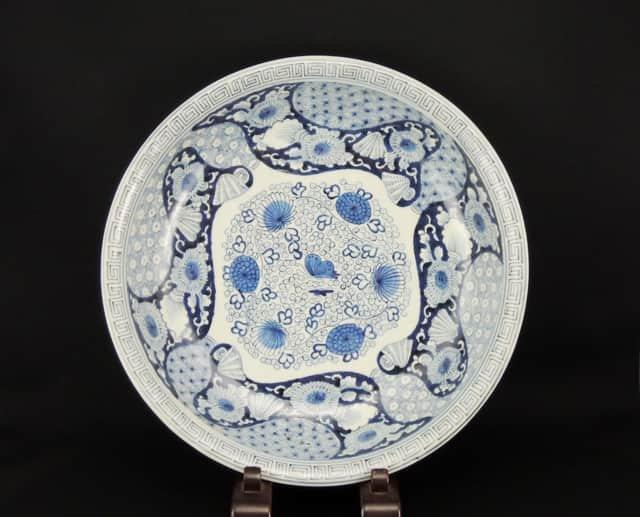 伊万里染付大皿 / Imari Large Blue & White Plate