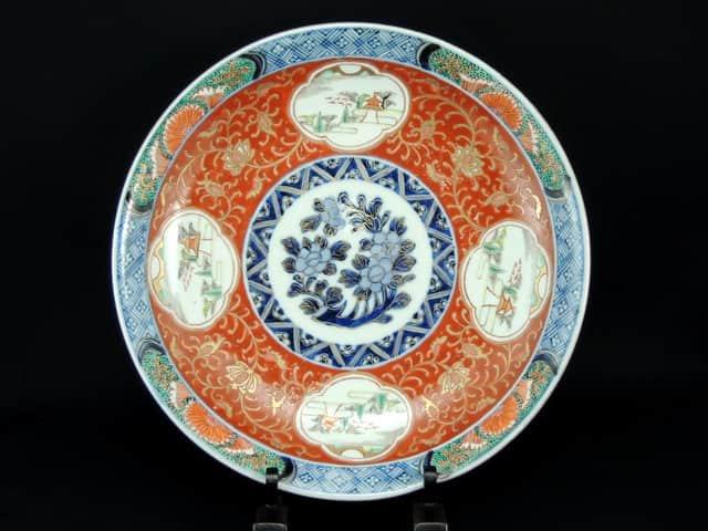 伊万里色絵大皿 / Imari Polychrome Plate (25.5cm)