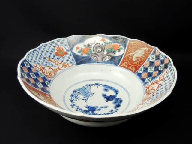 伊万里色絵変形大鉢 / Imari Polychrome Large Bowl