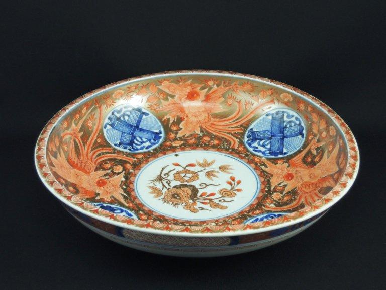 伊万里金彩赤絵鳳凰文大皿 / Imari Large Polychrome Plate