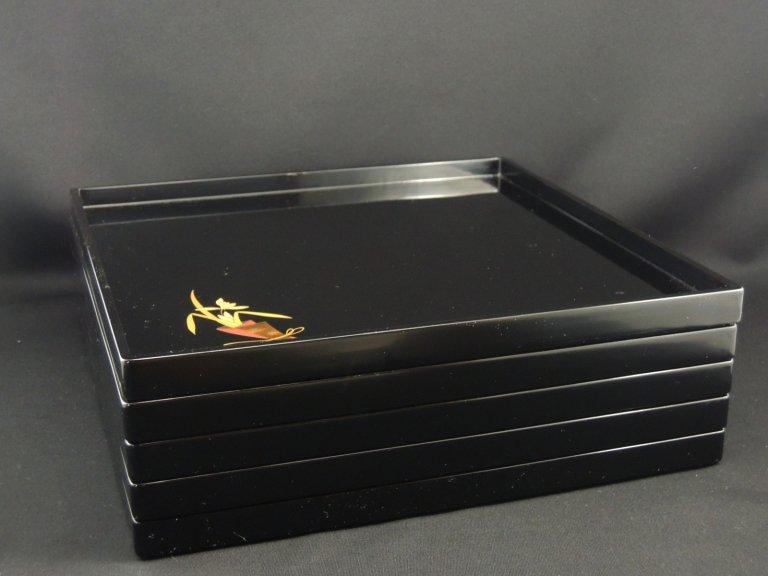 輪島塗図変蒔絵膳 五枚組 / Wajima-lacquered Trays  set of 5