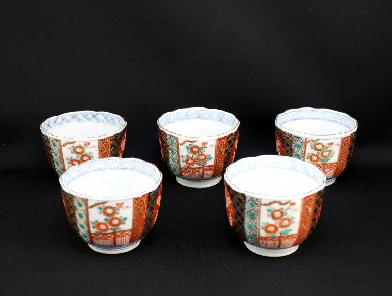 伊万里色絵向付 五客組 / Imari Polychrome 'Mukoduke' Cups set of 5