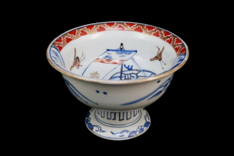 伊万里色絵宝船の図盃洗 / Imari Plychrome 'Haisen' Sake cup Washing Bowl with the picture of Treasure Boat