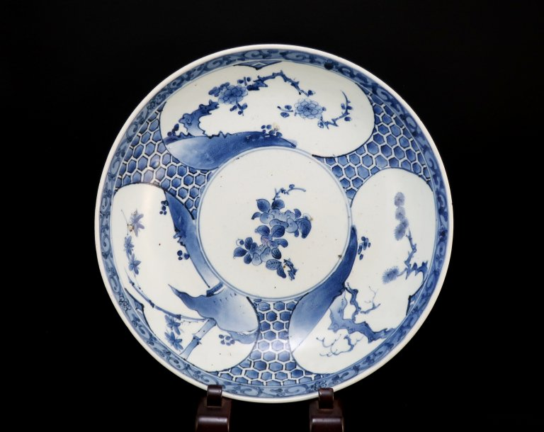 伊万里染付松竹梅亀甲文大鉢 / Imari Large Blue & White Bowl