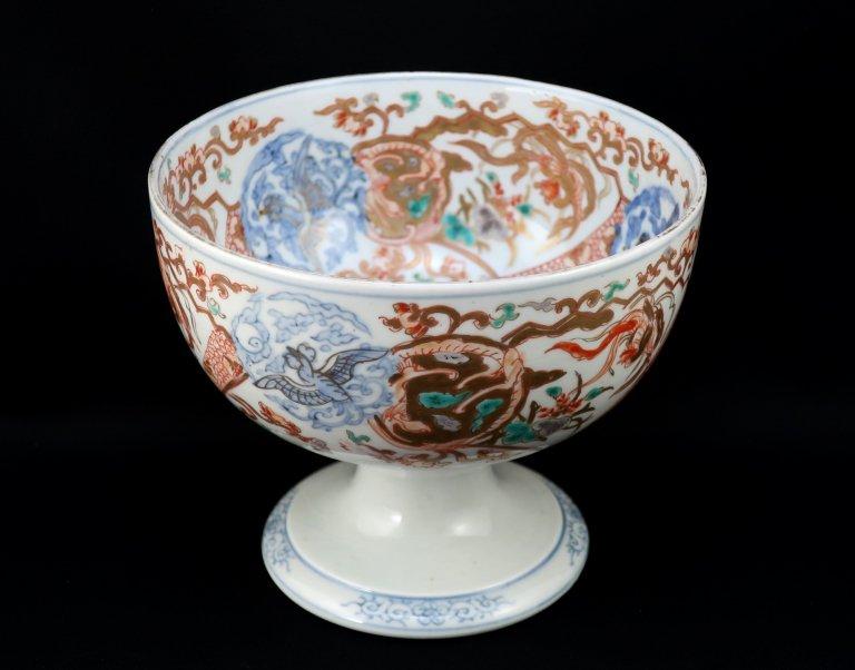 伊万里色絵龍鳳凰文盃洗 / Imari Poychrome 'Haisen' Sake cup Washing Bowl