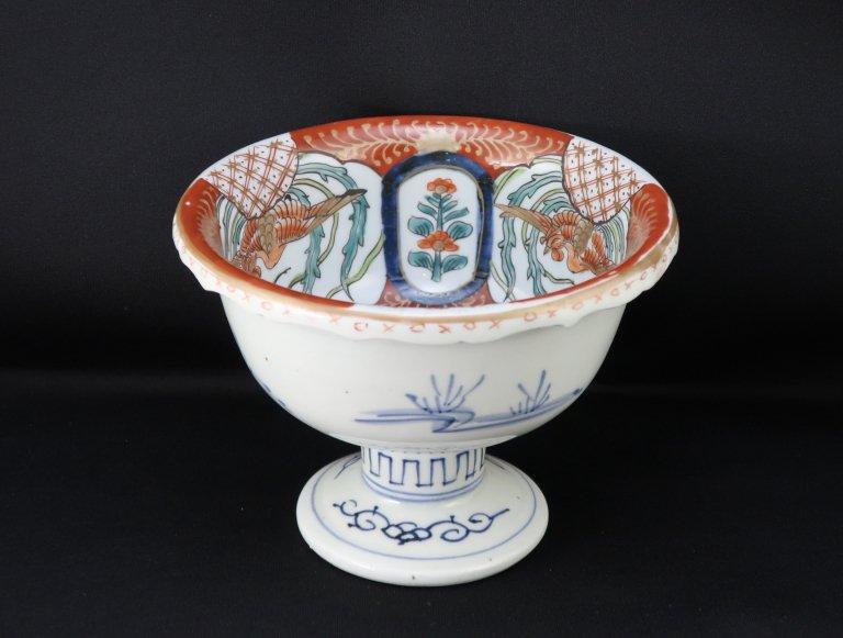 伊万里色絵鳳凰文盃洗 / Imari Polychrome 'Haisen' Sake cup Washing Bowl