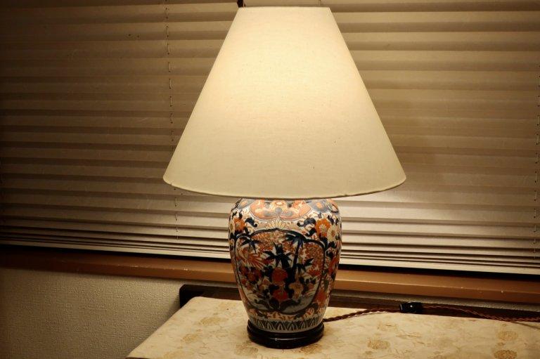 伊万里色絵壺シェードランプ / Table Lamp with Imari Polychrome Pot