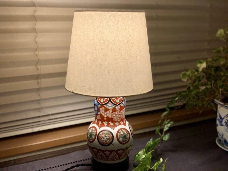 伊万里色絵テーブルランプ / Table Lamp of Imari Small Polychrome Pot
