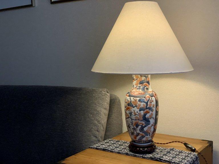 伊万里色絵花瓶テーブルランプ /Table Lamp of Imari Polychrome Pot