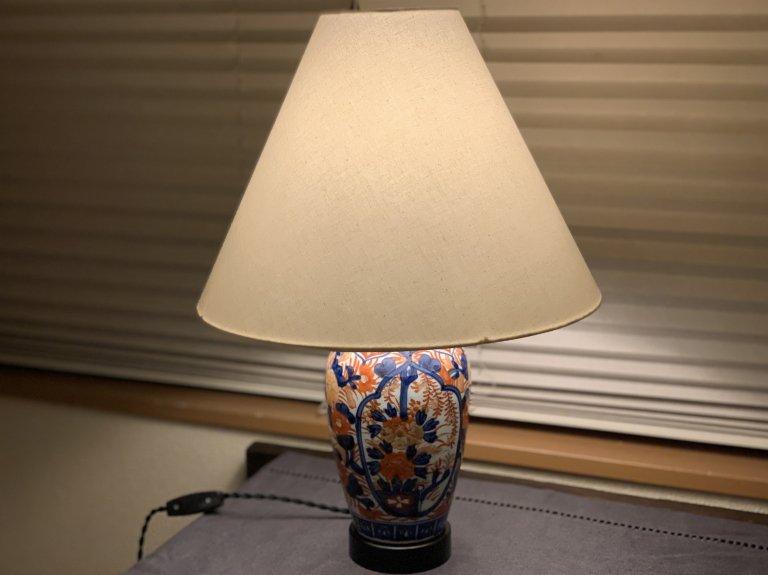 伊万里色絵壺テーブルランプ / Table Lamp of Imari Polychrome Pot