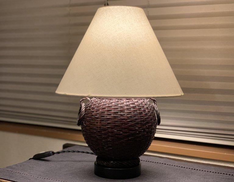 花籠テーブルランプ / Table Lamp of Bamboo Flower Basket